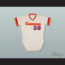 Calgary Cannons 38 White Baseball Jersey