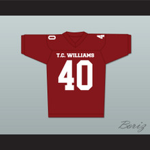 T. C. Williams High School Titans Football Jersey Red Donald Faison Petey Jones