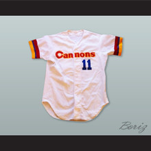 Frank Bolick 11 Calgary Cannons White Button Down Baseball Jersey