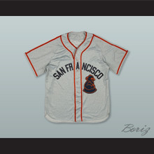 Pablo Sandoval 48 San Francisco Sea Lions Negro League Gray Baseball Jersey