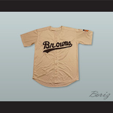 Satchel Paige 29 St. Louis Browns Tan Baseball Jersey