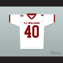 T. C. Williams High School Titans Football Jersey White Donald Faison Petey Jones