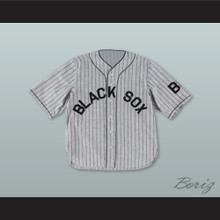 Baltimore Black Sox Negro League Gray Pinstriped Baseball Jersey