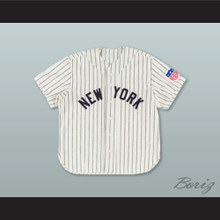 New York Black Yankees 5 Negro League White Pinstriped Baseball Jersey