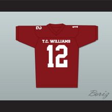 T. C. Williams High School Titans Football Jersey Red Kip Pardue Ronnie 'Sunshine' Bass 12