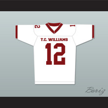 T. C. Williams High School Titans Football Jersey White Kip Pardue Ronnie 'Sunshine' Bass 12