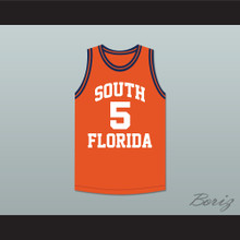 George Floyd 5 South Florida State College Panthers Orange Basketball Jersey