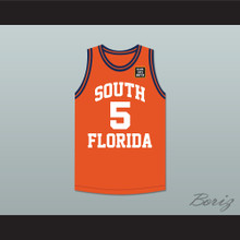 George Floyd 5 South Florida State College Panthers Orange Basketball Jersey with BLM Patch