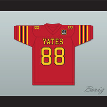 George Floyd 88 Yates High School Lions Red Football Jersey with BLM Patch