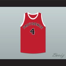 Dino Martin 4 Providence Steamrollers Red Basketball Jersey 1
