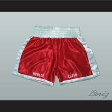 Apollo Creed Red Boxing Shorts