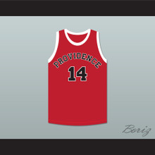 George Nostrand 14 Providence Steamrollers Red Basketball Jersey 2