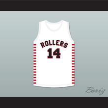 George Nostrand 14 Providence Steamrollers White Basketball Jersey 1