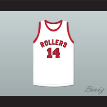 George Nostrand 14 Providence Steamrollers White Basketball Jersey 4