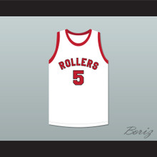 Kenny Sailors 5 Providence Steamrollers White Basketball Jersey 3