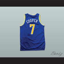 Mark Cooper 7 Pro Career Blue Basketball Jersey Hangin with Mr. Cooper
