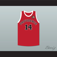 George Nostrand 14 Providence Steamrollers Red Basketball Jersey with Patch