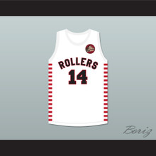 George Nostrand 14 Providence Steamrollers White Basketball Jersey with Patch 1