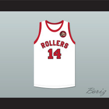 George Nostrand 14 Providence Steamrollers White Basketball Jersey with Patch 2
