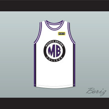 Martin Payne 23 Morris Brown College White Basketball Jersey with Martin Patch