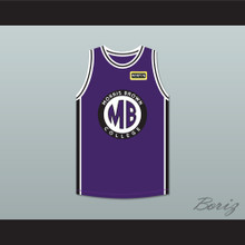 Martin Payne 23 Morris Brown College Purple Basketball Jersey with Martin Patch