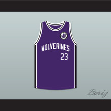 Martin Payne 23 Morris Brown College Wolverines Purple Basketball Jersey Patch