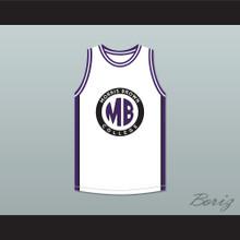 Martin Payne 23 Morris Brown College White Basketball Jersey