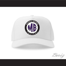 Morris Brown College White Baseball Hat