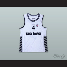 Allen Iverson 4 Besiktas J.K. White Basketball Jersey
