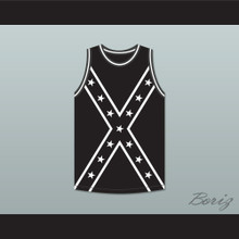 Black and White Reclaimed Confederate Flag Basketball Jersey