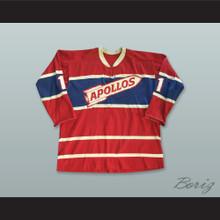 Houston Apollos 1 Red Hockey Jersey