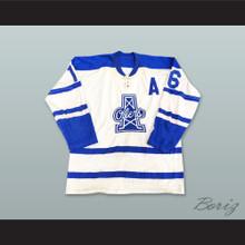 Len 'Comet' Haley 16 Tulsa Oilers White Hockey Jersey