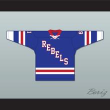 Roanoke Valley Rebels 61 Blue Tie Down Hockey Jersey