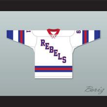 Roanoke Valley Rebels 61 White Tie Down Hockey Jersey