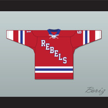 Roanoke Valley Rebels 61 Red Tie Down Hockey Jersey