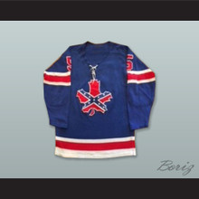 Roanoke Valley Rebels 5 Blue Tie Down Hockey Jersey