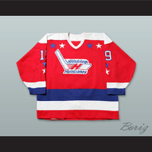 Brad Mehalko 19 Lethbridge Hurricanes Red Hockey Jersey
