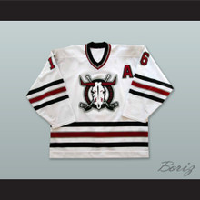 Brennen Wray 16 Deer Rebels White Hockey Jersey