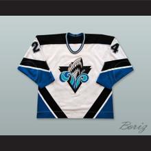 Gabriel Balasescu 24 Rimouski Oceanic White Hockey Jersey