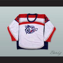 David Hymovitz 16 Elmira Jackals White Hockey Jersey