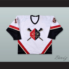Kelly Miller 19 Wheeling Nailers White Hockey Jersey