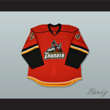 Ty Loney 24 Adirondack Thunder Red Hockey Jersey