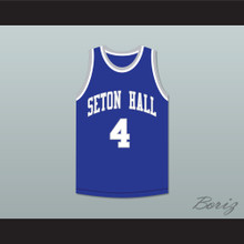 Phife 4 Seton Hall Blue Basketball Jersey