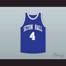 ATCQ 4 Seton Hall Blue Basketball Jersey