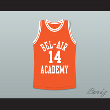 The Fresh Prince of Bel-Air Will Smith Bel-Air Academy Orange Basketball Jersey