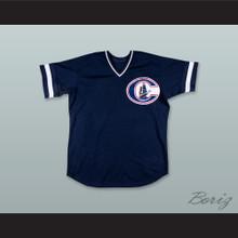 Derek Jeter 24 Columbus Clippers Navy Blue Baseball Jersey