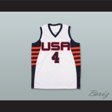 Allen Iverson 4 USA White Basketball Jersey