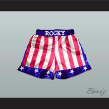 Sylvester Stallone Rocky Balboa American Flag Boxing Shorts