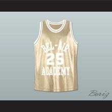 The Fresh Prince of Bel-Air Alfonso Ribeiro Carlton Banks Bel-Air Academy Gold Basketball Jersey