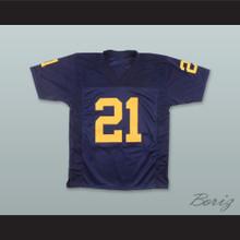 Desmond Howard 21 Michigan University Wolverines Navy Blue Football Jersey